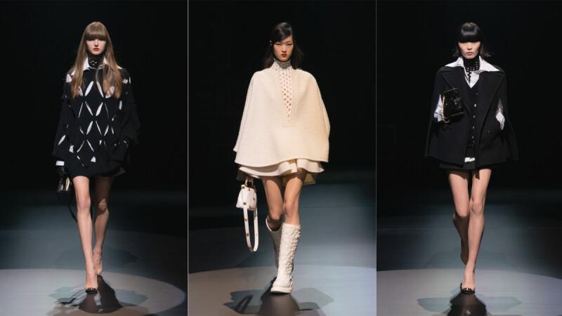 2021秋冬米蘭時裝週|Valentino極短下半身設計、菱形圖樣翻玩黑白色調…5大細節帶你看