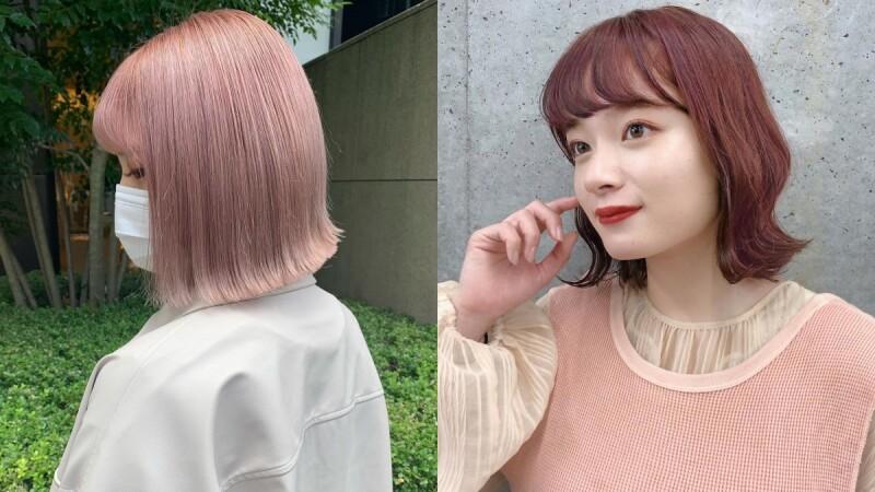 2021髮色推薦:日本正流行的春色染,溫柔粉嫩色系絕對是賞花必備!