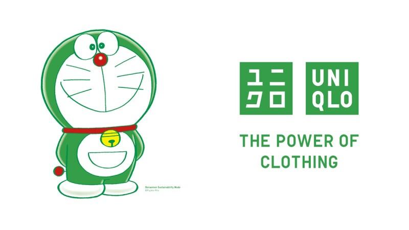 哆啦A夢變綠色!Uniqlo任命哆啦A夢為品牌永續發展大使,將在全台店鋪、網路商城現身