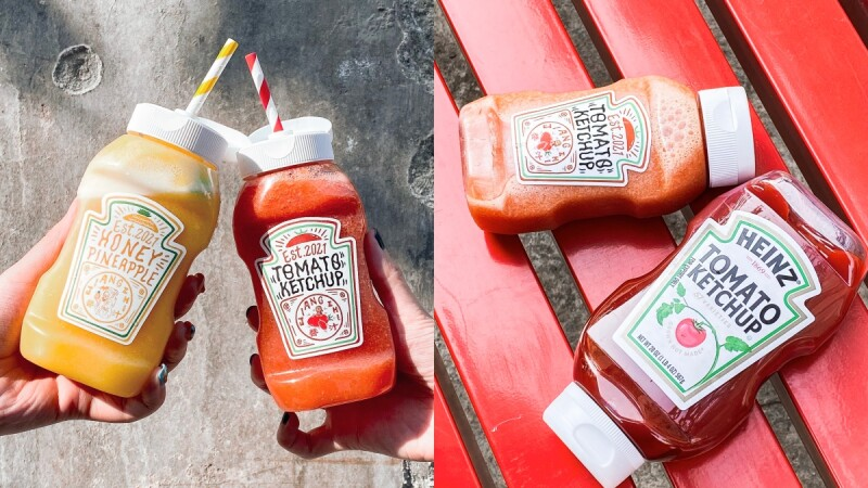 【台南飲料店】Jiang Zhi醬汁在飲品中加入番茄醬、芥末醬打造超狂的果汁飲品,國華街必吃美食再加一