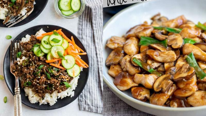 爽吃不胖的3道低脂熱炒:雙椒辣炒雞丁/醬燒牛肉炒小黃瓜/胡蘿蔔蒜炒磨菇食譜來了!