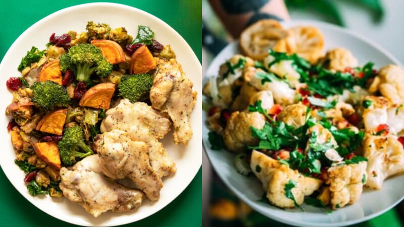 """低脂""""蒜香蘑菇煎花椰菜""""食譜來了!添入蔬菜高湯鮮美清爽,一定要學起來!"""