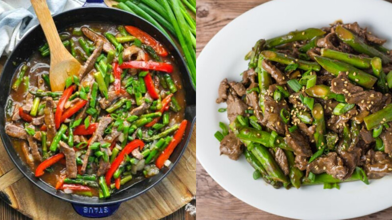 營養美味的黑胡椒蘆筍炒牛肉食譜來了!高蛋白低脂肪料理千萬不要錯過!