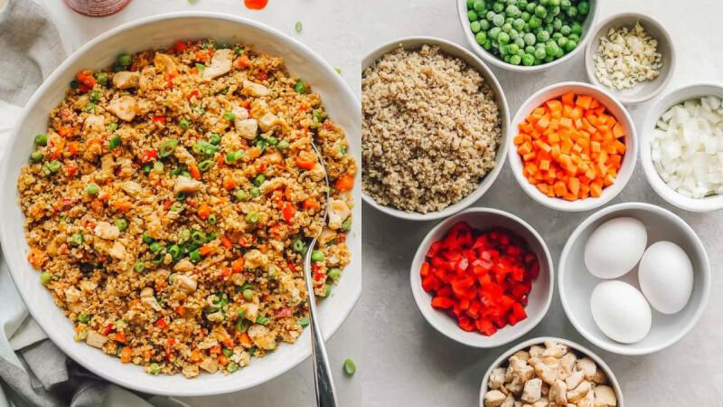 蛋白質大爆炸餐:黑胡椒蘆筍炒牛肉/豆腐黃金炒飯/鹹蛋蝦仁豆腐煲 食譜來了!