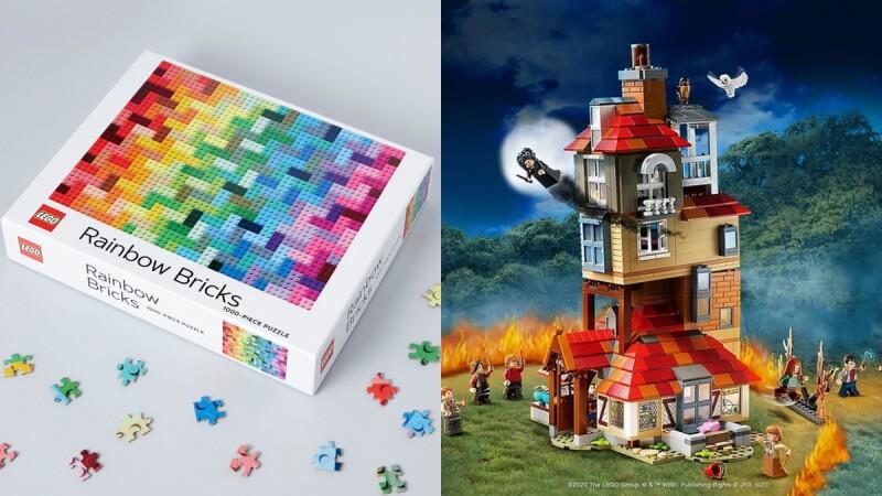 拼圖控請挑戰!博客來推薦在家玩1000片樂高彩虹、絕美水母拼圖,還有哈利波特積木必須搬回家