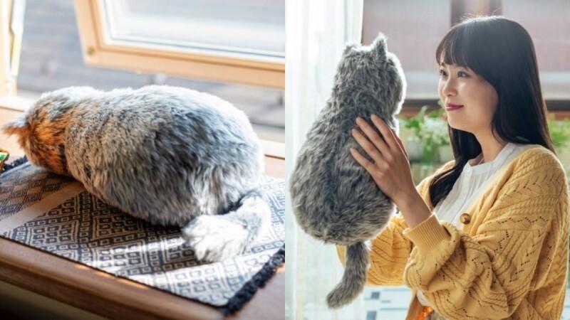 可以瘋狂吸貓了!日本「貓貓抱枕」療癒問世,外型、體溫、心跳全都超逼真,撫摸還會發出呼嚕聲