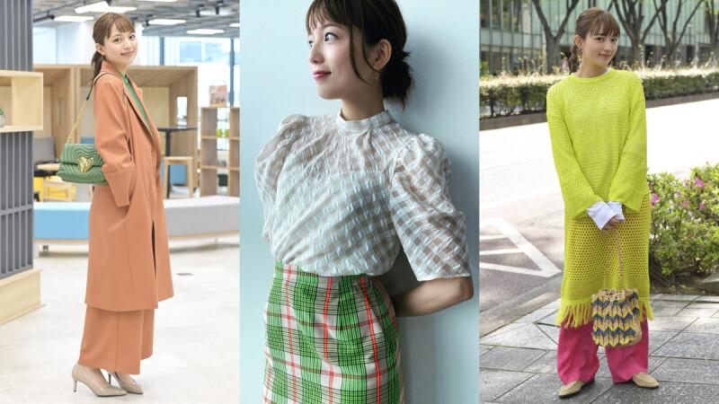 《打扮的戀愛是有理由的》川口春奈的綠色穿搭!撞色搭配、加上黃色點綴…3個搭配法讓你輕鬆駕馭綠色單品