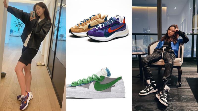 朴信惠、鄧紫棋私服穿搭必備!Nike x sacai 熱門鞋款趨勢,AREA 02(原KNCKFF)三大「搶鞋」技巧傳授!