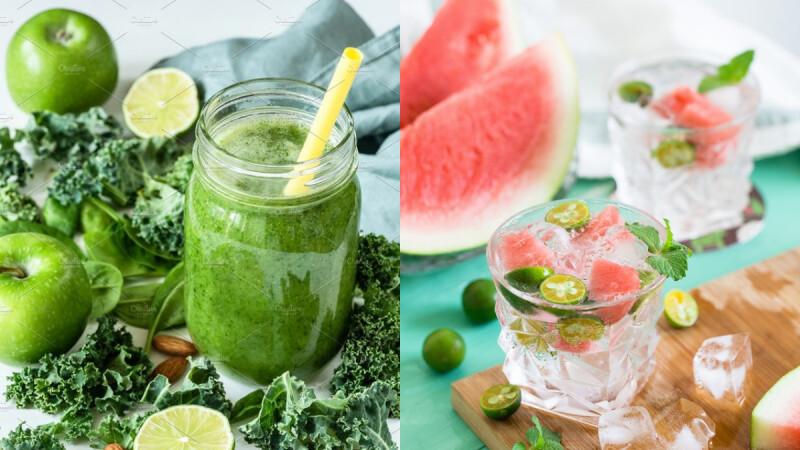宅在家自己做!4款夏日健康飲:提升免疫力/補充含氧量/美容養顏和排宿便蔬果汁食譜來了!