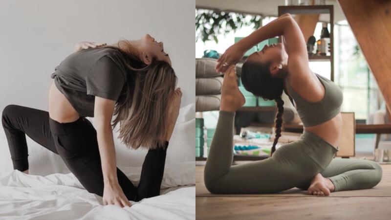 5分鐘6組手機靜態瑜珈做起來!可瘦腿瘦肚還能美化背部線條!