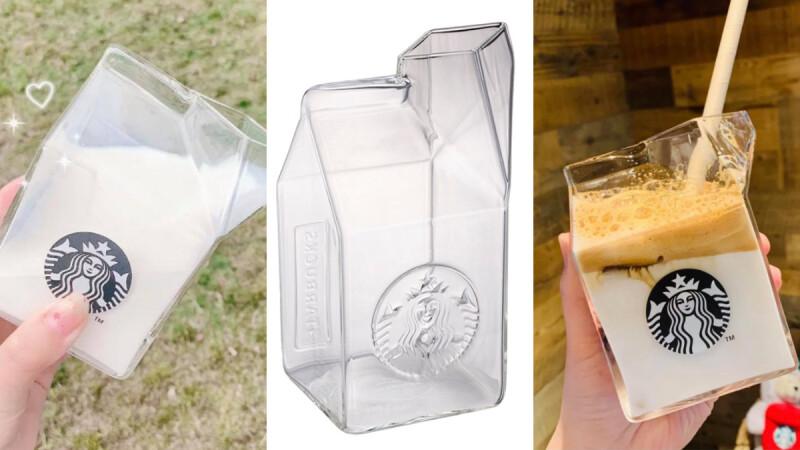 星巴克牛奶玻璃杯台灣上市!全透明女神LOGO仙氣破表,不管裝牛奶還是拿鐵都太美了
