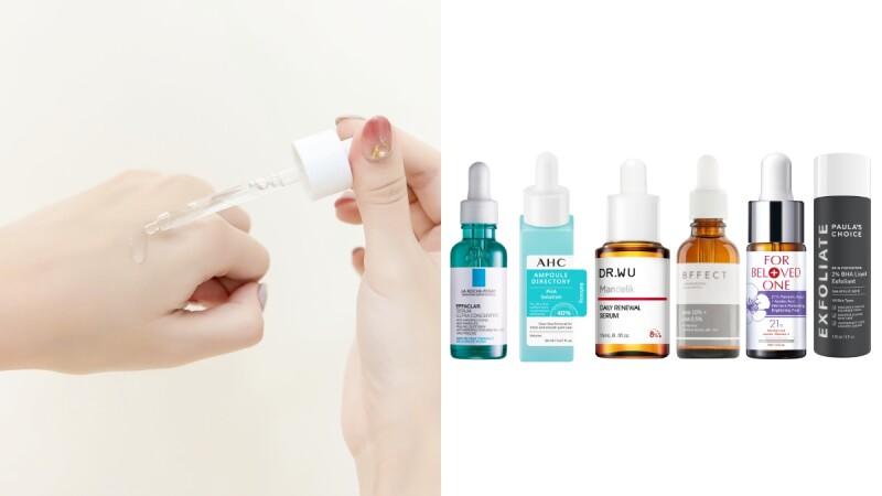 毛孔粗大、粉刺人必備的酸類煥膚精華液推薦!保養加這罐,溫和代謝角質、抑制油田肌、阻止大痘不是夢