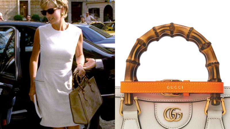 Gucci Diana方形竹節復刻包!黛安娜王妃生前愛包再添螢光束帶細節,還有提供個人刻字服務