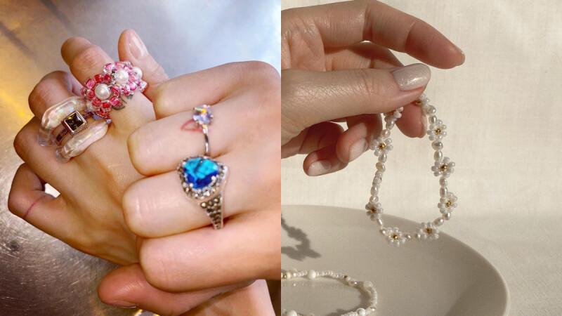 日韓串珠飾品持續流行!可愛小花串珠戒指、手鍊、口罩鍊超簡單做,詳細步驟教給你(附教學影片