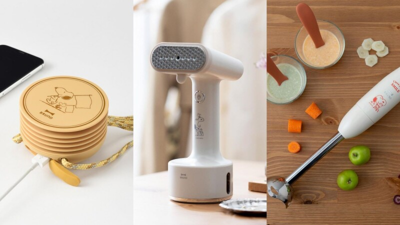 SNOOPY限定!BRUNO X PEANUTS推3款全新家電,史努比掛燙機、攪拌棒、掛脖電風扇療癒登場