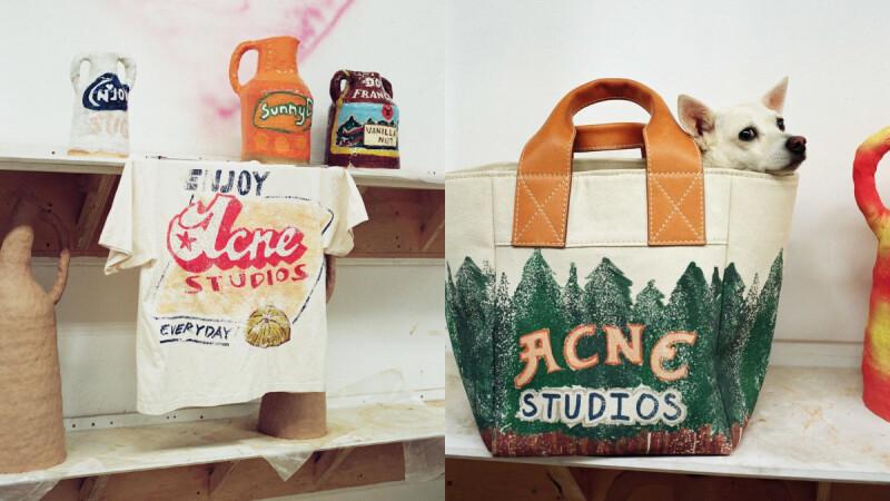 北歐小眾品牌Acne Studios換上美式塗鴉新面貌!宛如奈良美智的童趣圖畫,台灣買得到