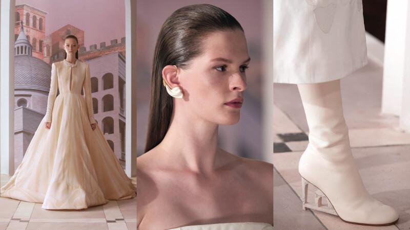 Fendi 2021秋冬高訂服系列!翻開羅馬歷史時間軸,大理石雕刻幻化為絕美服裝、飾品設計