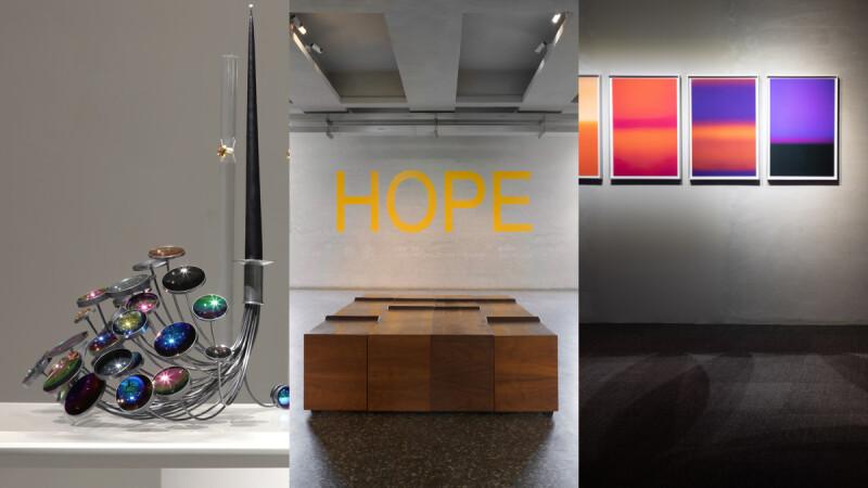 金馬賓館當代美術館《希望:鎌田治朗、卡洛琳・阿萊》,用療癒的光與顏色平復不安的心