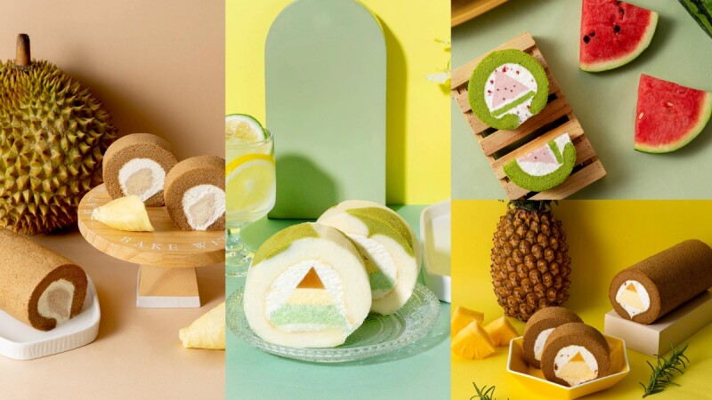 榴槤控快挑戰!金帛手製推「盛夏冰菓派對」以西瓜、榴槤、紅心芭樂等5種水果入生乳捲,酸甜解饞的好選擇