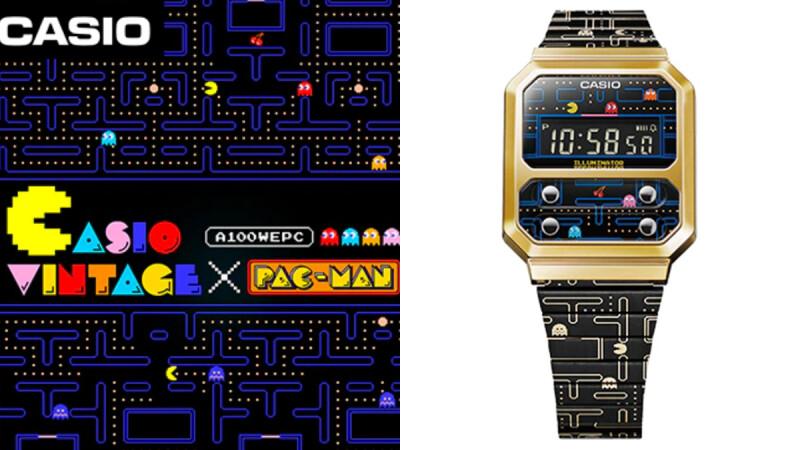 經典遊戲《小精靈》變身數位錶!Casio X Pac-Man攜手推出首款聯名錶,復古控一定要收藏