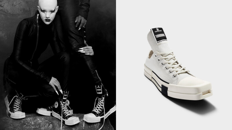 Converse X Rick Owens聯名系列即將開賣!前衛方頭+超長鞋舌Chuck 70,搶購攻略大公開
