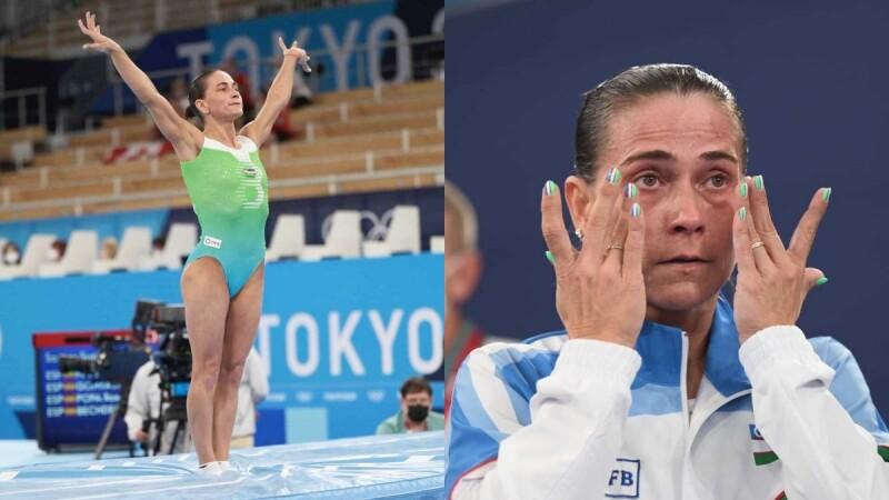 46歲「體操媽媽」東京奧運最後一跳!拭淚宣告退休、連續八屆奧運生涯劃下句點,全場起立鼓掌致敬