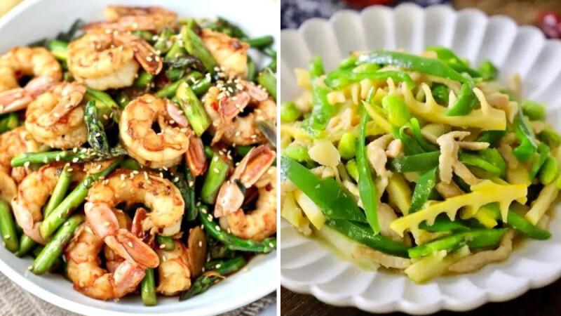 竹筍炒雞肉絲/蘆筍炒蝦仁/豌豆清炒玉米筍,3道筍子快炒低脂料理 食譜來了!