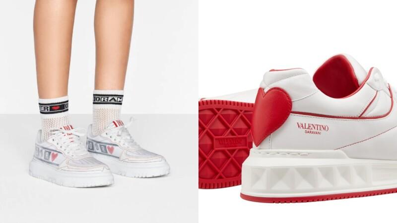 2021七夕情人節禮物推薦小白鞋TOP5!Dior厚底增高、Ferragamo經典極簡、Valentino心型水鑽…每一雙都能表白愛意