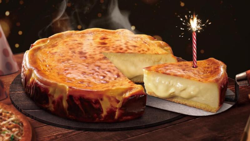 必勝客推出限量「巴斯克熔岩起司蛋糕」!熱騰騰爆漿內餡,表面淡淡焦香完全超邪惡美食