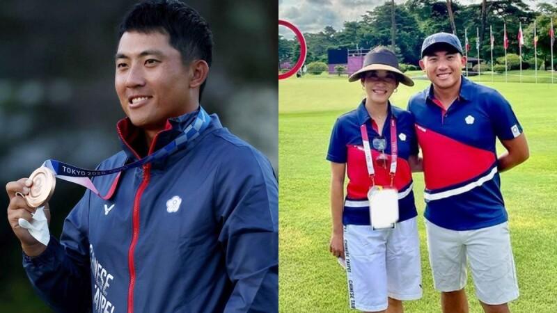 潘政琮大逆轉奪下東京奧運高爾夫球銅牌!台灣高球史上第一面獎牌,老婆當桿弟愛相隨,擊敗世界球王寫歷史