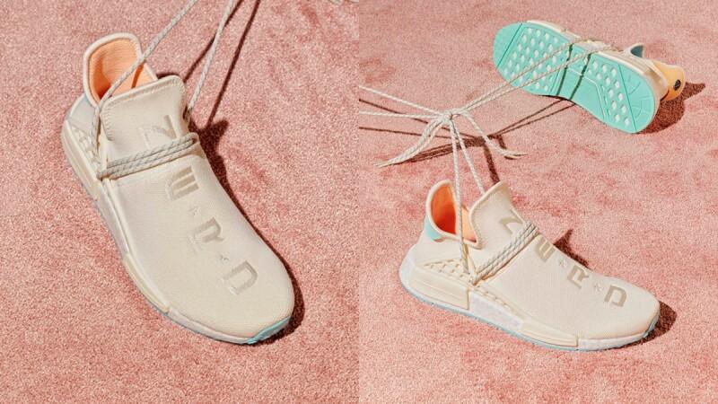 adidas Originals與菲董再攜手合作!把代表性球鞋PW HU NMD染上奶油白、冰川藍、薄荷綠夢幻色,台灣這天開賣