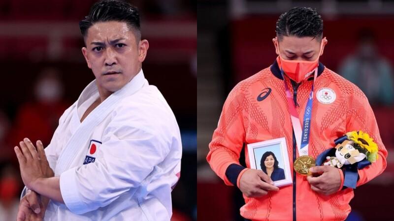 「想跟過世的媽媽說:『我實現了我們的約定!』」31歲日本選手奪東京奧運空手道金牌,手捧媽媽照片領獎超催淚