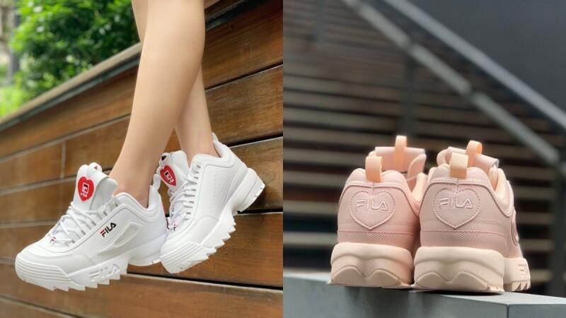 Fila熱賣老爹鞋推出七夕限定版!櫻花粉配色、超萌愛心圖案…3大鞋款帶你一次看,加價還有玫瑰金後背包