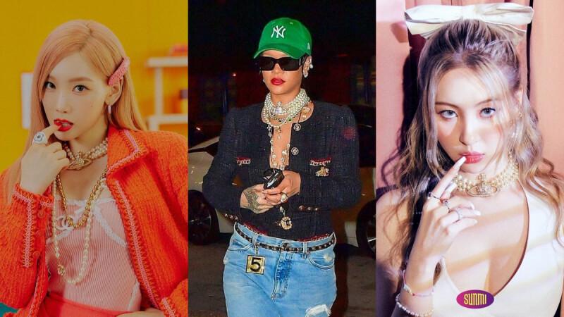 Vivienne Westwood珍珠項鍊宣美、太妍、蕾哈娜都入坑!3種搭配靈感一次看