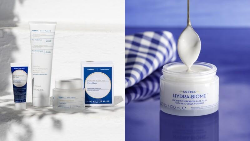 希臘藥妝KORRES 2021登台,明星產品真的加入了優格,面膜敷完超水嫩