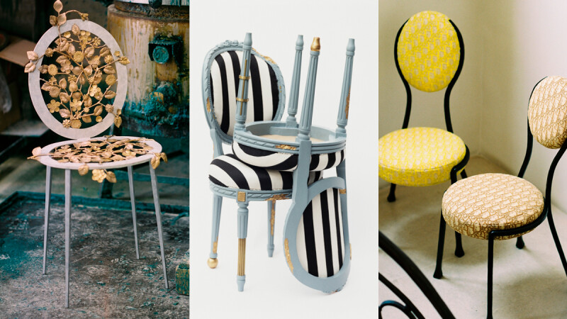 2021年米蘭家具展亮點,Dior經典家飾再造,17位藝術家翻玩經典圓背椅