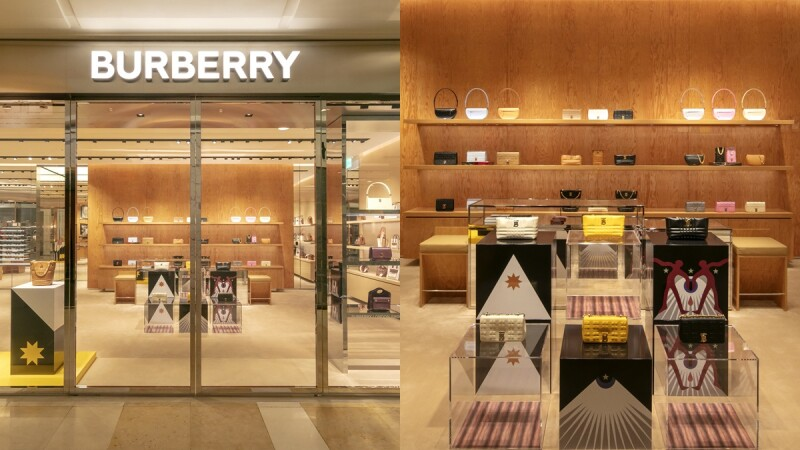 Burberry台中新光三越專賣店改裝後全新開幕,獨家開賣深魔力紅TB包、Pocket包