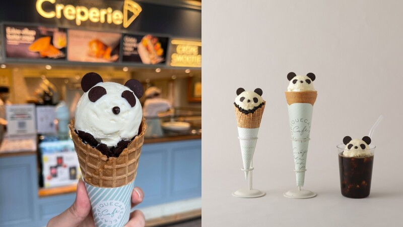 gelato pique café推出超萌熊貓系列新口味!不只可麗餅、冰淇淋,還有療癒周邊必收