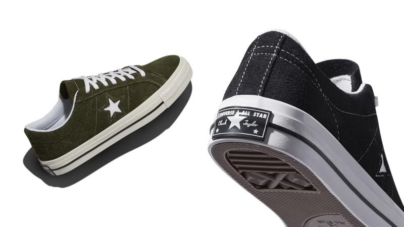 Converse復古帆布鞋ONE STAR換上黑、墨綠秋季新色,還有雙面設計羊羔絨外套