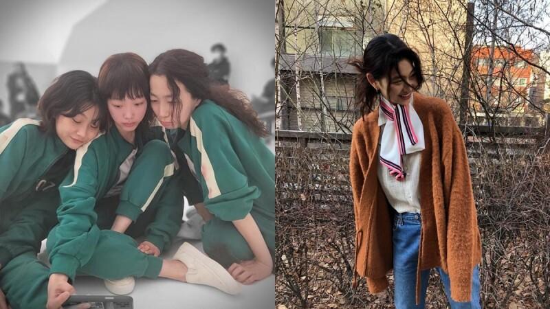 《魷魚遊戲》脫北者姜曉、死纏到底韓美女、義氣王智英,女生三人組脫掉戲服後的私下穿搭