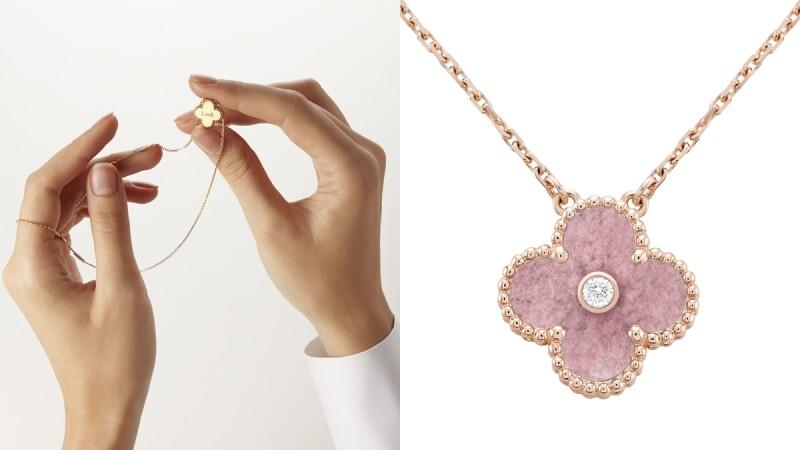 梵克雅寶2021年限量版Vintage Alhambra吊墜薔薇粉色可愛曝光!