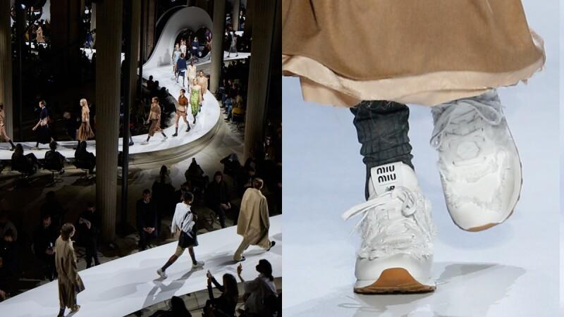2022春夏巴黎時裝週|Miu Miu X New Balance聯名驚喜曝光,低腰風潮再度崛起