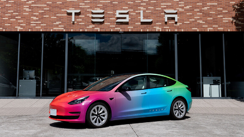 TESLA 第 4 屆「Drive with Pride」 放膽做夢就有機會試駕彩虹 Model 3