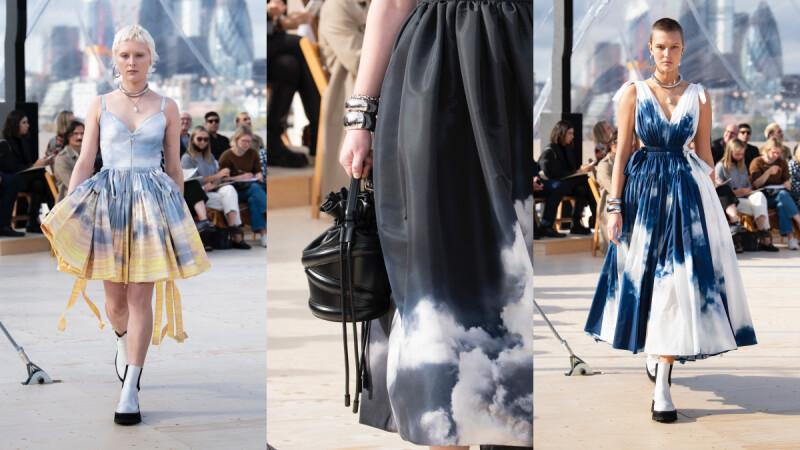 2022春夏倫敦時裝週 Alexander Mcqueen變身時尚氣象員,熱賣Curve水桶包推出變奏款
