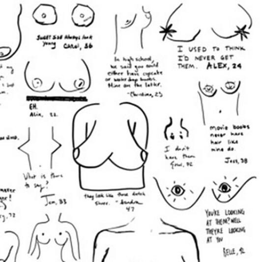 胸部樣貌百百種?15位女性親手畫下對於自己乳房的感想是…?