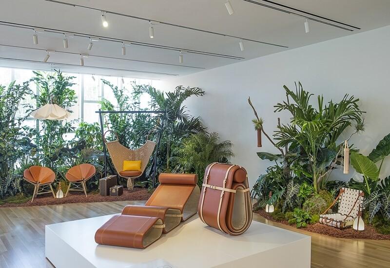 「一片能張能收的移動綠洲」Louis Vuitton結合當代藝術打造多功能躺椅