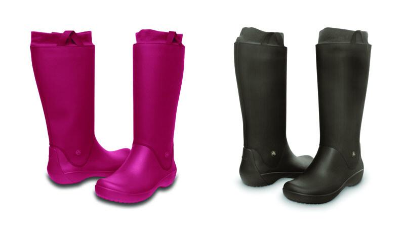 女孩們必敗的雨天單品Crocs時尚輕雨靴!