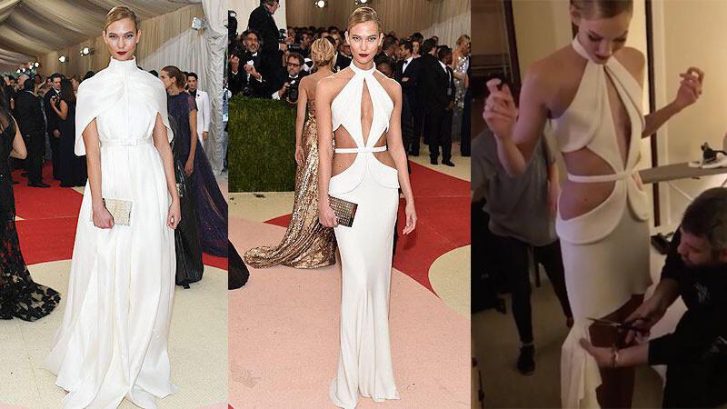 一件禮服三種Look!Karlie Kloss的百變造型竟然只靠一把剪刀