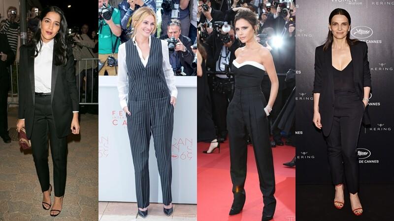 紅毯上的各種帥氣!貝嫂、珍柏金、茱莉亞羅勃茲…那些穿褲裝的帥女子們