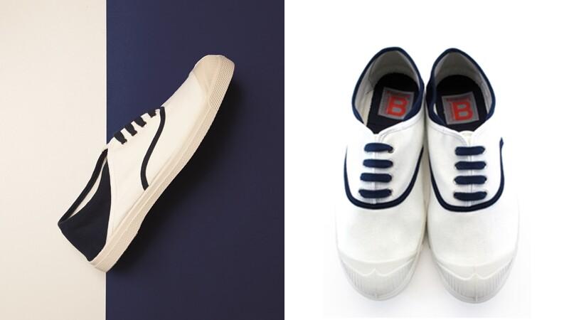 只有網路買得到!BENSIMON推出限定款海軍風小白鞋
